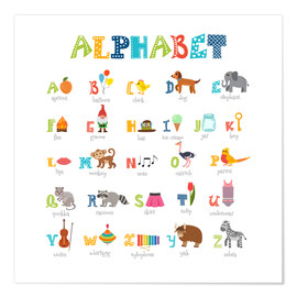 Poster Premium  Cheerful alphabet (English) - Typobox