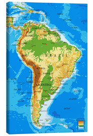 Tela  South America - Topographic Map