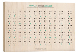 Stampa su legno  Braille - Alphabet - Typobox