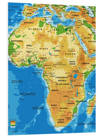 Forex  Africa - Topographic Map