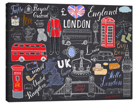 Stampa su tela  London at a glance
