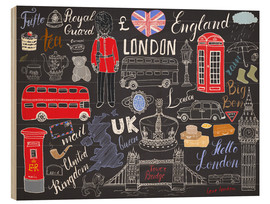 Stampa su legno  London at a glance