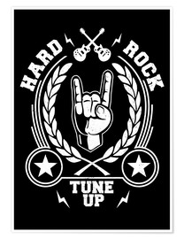 Poster Premium  Hard rock - Durro Art