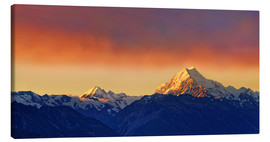 Stampa su tela  New Zealand Mount Cook Sunset - Michael Rucker