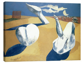 Stampa su tela  Stranded figures into the sunset - Paul Nash
