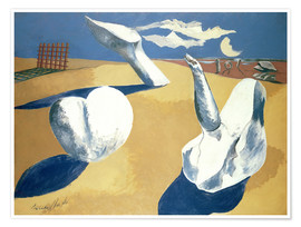Poster Premium  Stranded figures into the sunset - Paul Nash
