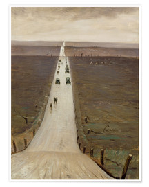 Poster Premium  The Road from Arras to Bapaume - Christopher Nevinson