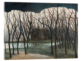 Stampa su vetro acrilico  Pond Surrounded by Trees, Winter - Léon Spilliaert