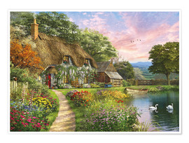 Poster Premium 27692 Sunset Country Cottage