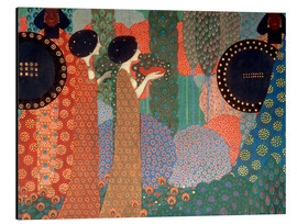 Stampa su alluminio  The princesses and warriors - Vittorio Zecchin