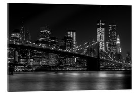 Stampa su vetro acrilico  Brooklyn Bridge at Night - Thomas Klinder