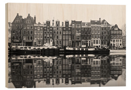 Stampa su legno  Reflections of Amsterdam - George Pachantouris