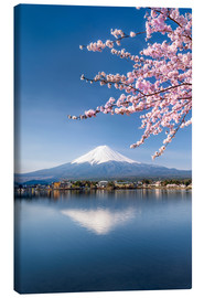 Tela  Mount Fuji and Lake Kawaguchiko in Japan during the cherry blossom season - Jan Christopher Becke