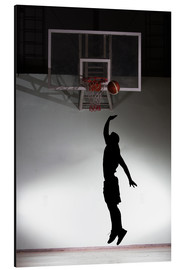 Alluminio Dibond  Silhouette of a basketball player