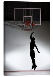 Tela  Silhouette of a basketball player
