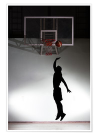 Poster Premium  Silhouette of a basketball player