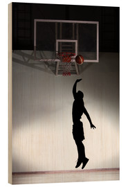 Legno  Silhouette of a basketball player