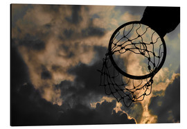 Stampa su alluminio  Basketball hoop and sky
