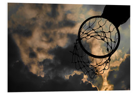 Stampa su schiuma dura  Basketball hoop and sky