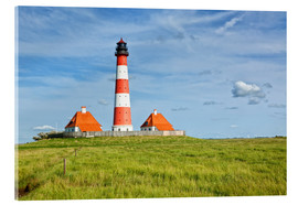 Stampa su vetro acrilico  Westerhever Lighthouse at the North Sea coast
