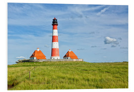 Westerhever Lighthouse at the North Sea coast