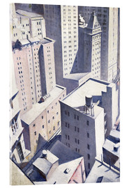 Stampa su vetro acrilico  Looking Down on Downtown - Christopher Nevinson