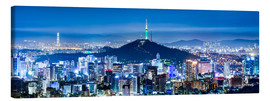 Tela  Seoul panorama at night overlooking Namsan and N Seoul Tower - Jan Christopher Becke