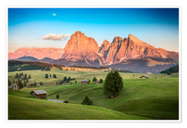 Poster  Seiser Alm, South Tyrol - Frank Fischbach