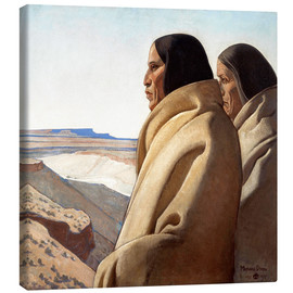 Stampa su tela  Men of the Red Earth - Maynard Dixon