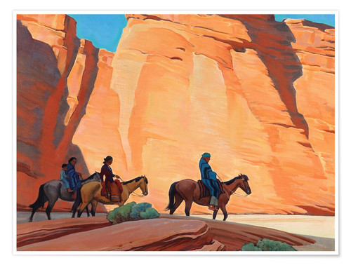 Poster Premium Navajos in a Canyon