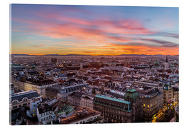 Stampa su vetro acrilico  Vienna Skyline at sunset, Austria - Mike Clegg Photography
