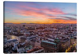 Stampa su tela  Vienna Skyline at sunset, Austria - Mike Clegg Photography