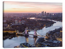 Stampa su tela  Colourful sunsets in London - Mike Clegg Photography