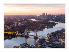 Poster Premium  Colourful sunsets in London - Mike Clegg Photography