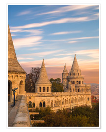 Poster  Fishermans Bastion, Budapest - Mike Clegg Photography