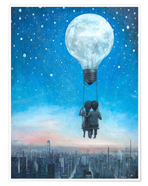 Poster Premium  our love will light the night - Adrian Borda