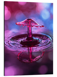 Stampa su alluminio  High-speed water droplets with Bokeh - Stephan Geist