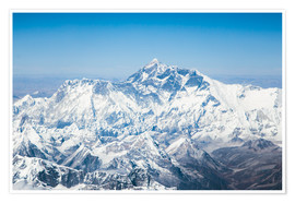 Poster Premium  Aerial view of Mount Everest in the Himalaya - Matteo Colombo