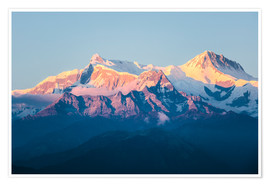Poster Premium  Annapurna mountain range at sunset, Nepal - Matteo Colombo