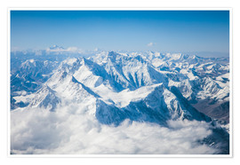 Poster Premium  Aerial view of mount Everest, Himalaya - Matteo Colombo