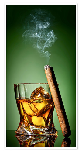 Poster Premium Cigar on the rocks