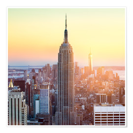 Poster Premium  Empire State Building in New York City at sunset - Jan Christopher Becke