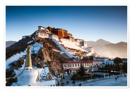 Poster Premium  Famous Potala palace in Lhasa, Tibet - Matteo Colombo