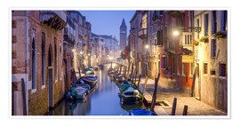 Poster Premium  Venice panorama at night - Jan Christopher Becke
