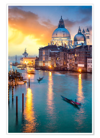 Poster Premium  Grand Canal with Santa Maria della Salute in Venice, Italy - Jan Christopher Becke