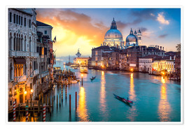 Poster Premium  Grand Canal at sunset in Venice, Italy - Jan Christopher Becke