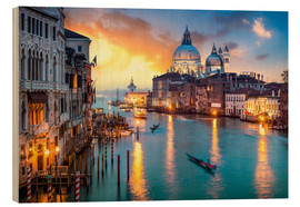 Legno  Grand Canal at sunset in Venice, Italy - Jan Christopher Becke
