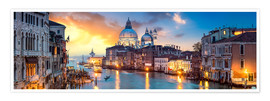 Poster  Canal Grande panorama in Venice, Italy - Jan Christopher Becke
