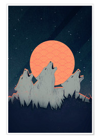 Poster Premium  Howling Moon - Romina Lutz