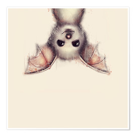 Poster Premium  Hang in there, bat - Romina Lutz